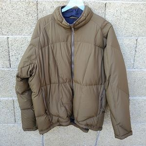 REI Olive Goose Down Jacket